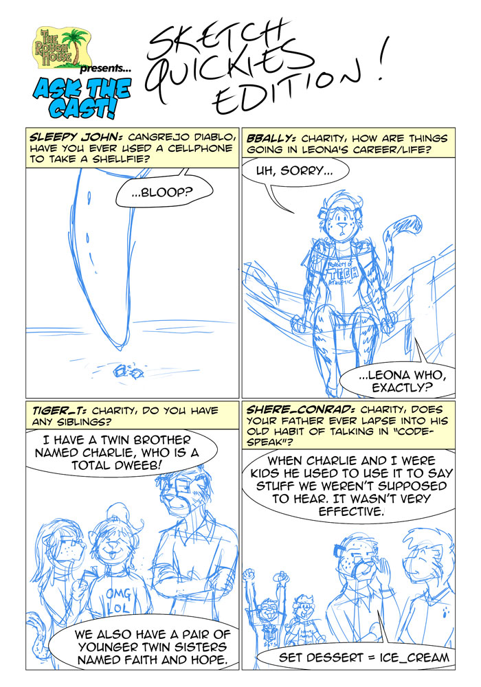 Ask the Cast! January 2015 Sketch Quickies Edition