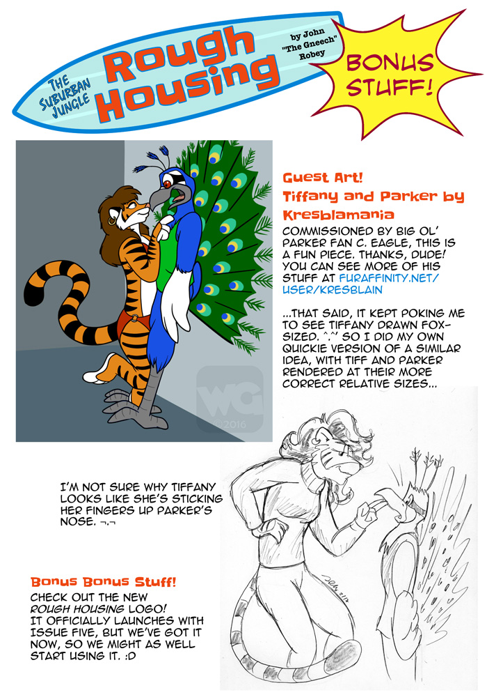 Guest art by Kresblamania! Featuring Tiffany Tiger.